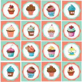 Adesivo Azulejo Cupcake
