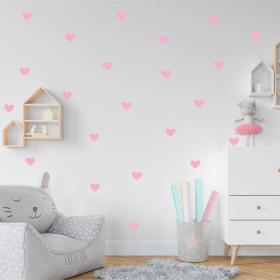 Adesivo Kit Coração Rosa