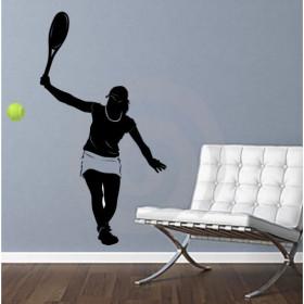 Adesivo de Parede Jogadora de Tênis