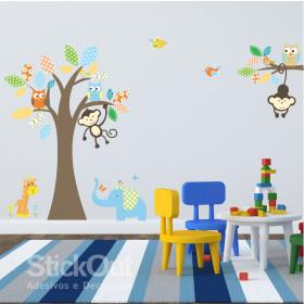Adesivo Infantil Safari Patchwork - Laranja