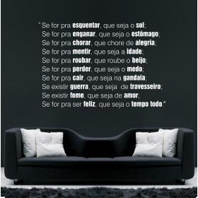 Adesivo Frase Se for...