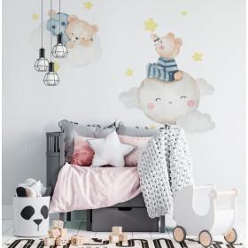 Adesivo Infantil Urso nas Nuvens