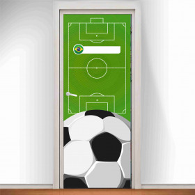Adesivo Porta Futebol Brasil