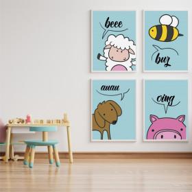 Adesivo Poster Animais da Fazenda