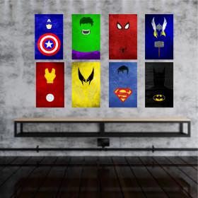 Adesivo Poster Super Heróis