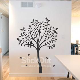 Adesivo Árvore e Passarinho