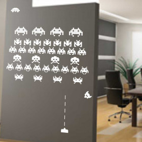 Adesivo Space Invaders