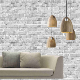 Adesivo Mural Tijolinho Branco