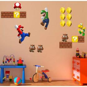 Adesivo Kit Mario Brothers