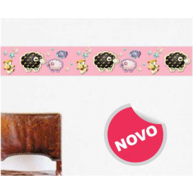 Faixa Decorativa Carneirinho Rosa
