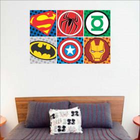 Adesivo Logo Super Herois