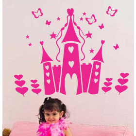 Adesivo de Parede Infantil - Castelo de Princesa