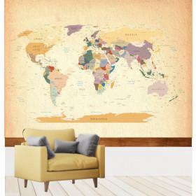 Adesivo Mapa do Mundo Vintage