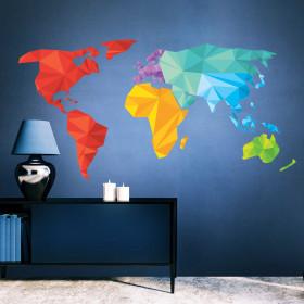Adesivo Mapa do Mundo Ilusão