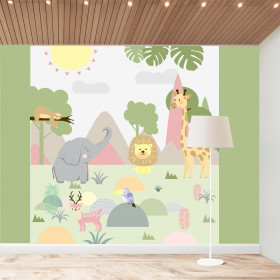 Painel Adesivo Animais da Floresta