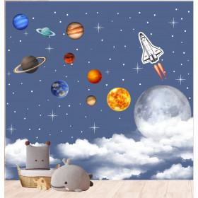 Painel Adesivo Planetas do Sistema Solar