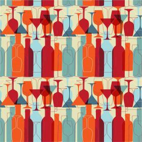 Papel de Parede Taça e Vinho