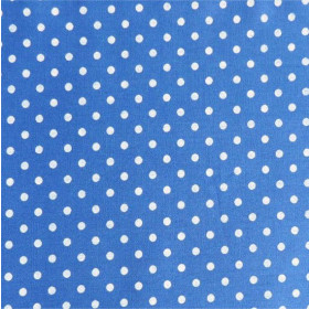 Tecido Adesivo de Bolinha Azul Royal