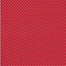 Tecido Adesivo de Bolinha Vermelho