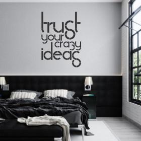 Adesivo Confie em suas Ideias